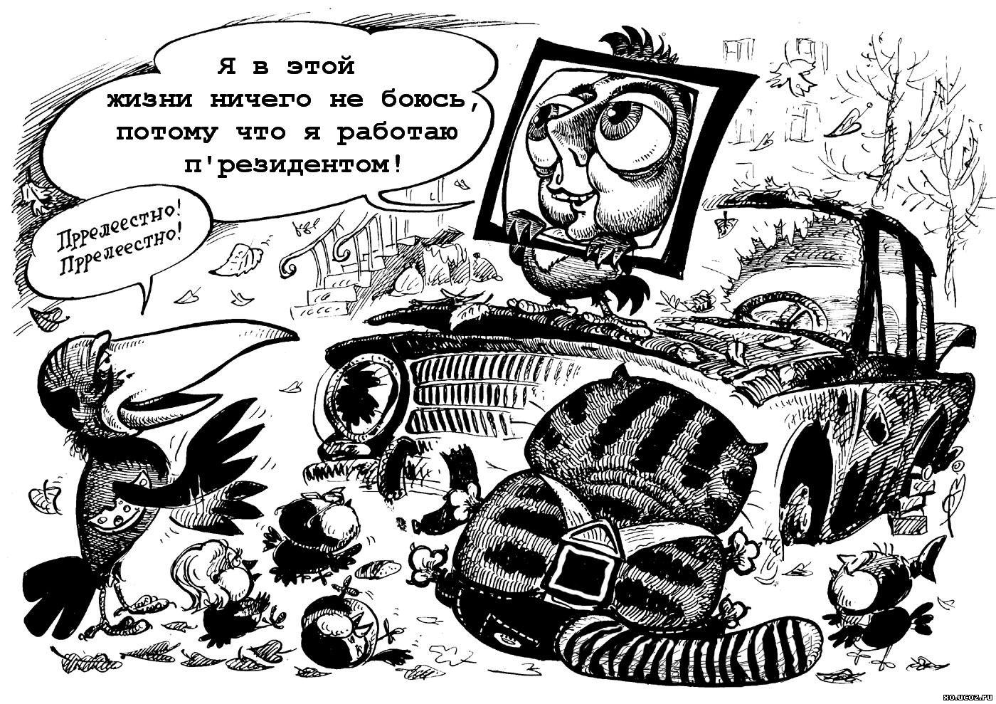 МЕДВЕДЕВ РАБОТАЕТ ПРЕЗИДЕНТОМ / works President Medvedev / мультфильм возвращение блудного попугая / попугай кеша