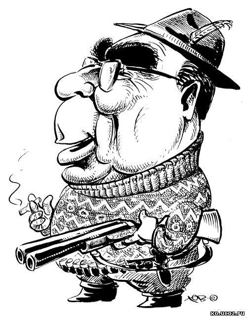 БРЕЖНЕВ Леонид Ильич/ шарж/ генеральный секретарь / карикатура cartoon caricature
