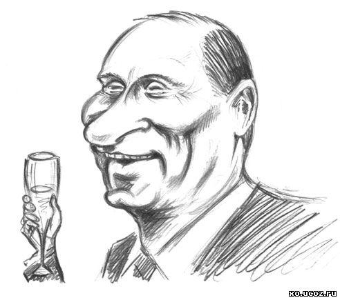 Путин навсегда - 2012 / карикатура cartoon caricature vladimir putin